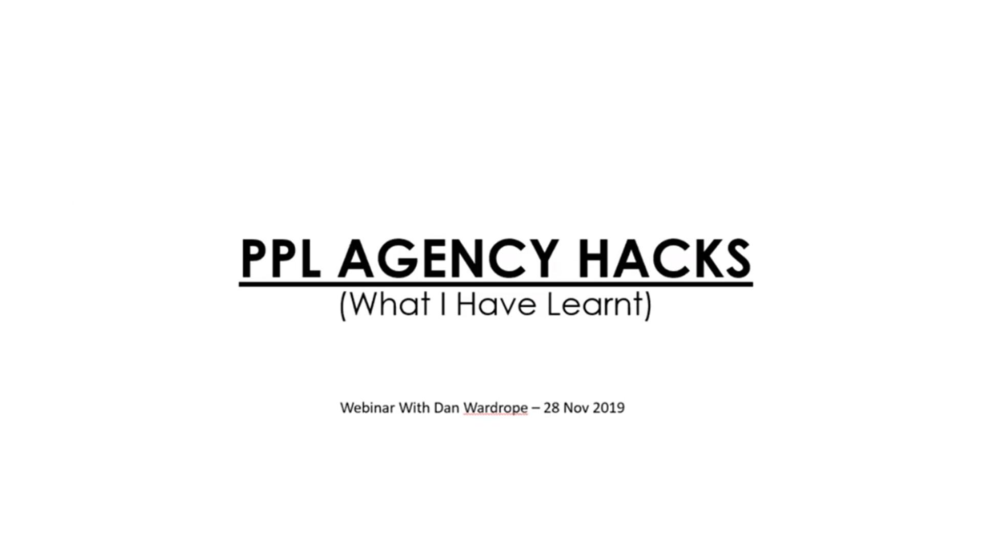 ppl agency hacks