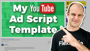 YouTube ad script template
